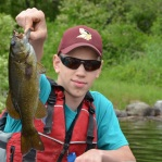 Bass Fishing on the St Croix River, Maine