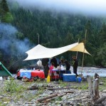Bonaventure River gravel bar campsite